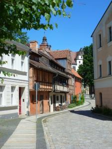 Blick auf das Gerberhaus von der Uferstraße  aus