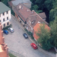 Luftbild mit Gerberhäuser 2004